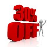 30% Rabatt Lizenzfreies Stockfoto