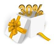30% Rabattkonzept Lizenzfreies Stockfoto