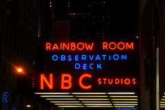 30 Rock NBC Studios Neon Sign Stock Photography