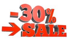 30% SALE discount text Royalty Free Stock Images