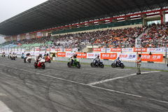 30 seconds. All riders are getting ready before the last 30 seconds of the ZIC superbike race in 2009 Pan Delta Super Racing Festival - Spring Race Stock Image