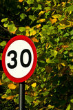 30 Speed limit sign Royalty Free Stock Photos
