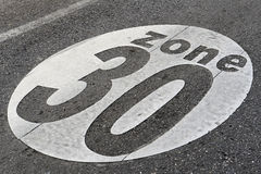 30 speed zone sign Stock Image