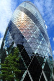 30 St Mary Axe. Also known as the Gherkin and the Swiss Re Building in London Royalty Free Stock Images