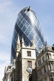 30 St Mary Axe, Augurk Stock Fotografie