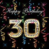 30 urodzinowych szczęśliwi Zdjęcia Royalty Free