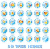 30 Web icons. A collection of icons useful for website Royalty Free Stock Images