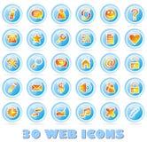 30 Web-Ikonen Lizenzfreie Stockbilder