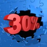 30% weg Stockfoto