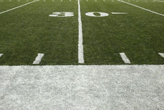 30-yard-line. Of a football field Royalty Free Stock Image