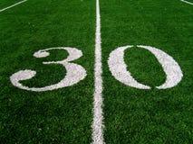 30 Yard Line. On Football Field Royalty Free Stock Image