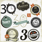 30 years anniversary signs Royalty Free Stock Photography
