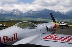 300航空公牛额外的种族红色sr 免版税库存照片