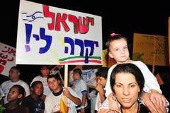 300,000 Israëliërs protesteren Kosten van levensonderhoud Royalty-vrije Stock Fotografie