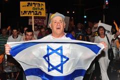 300,000 Israëliërs protesteren Kosten van levensonderhoud Royalty-vrije Stock Afbeeldingen