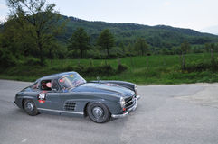 300 1955 dark - gray mig mercedes sl w198 Royaltyfri Bild
