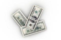 300 isolamento dei dollari US Immagini Stock Libere da Diritti