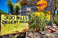 300 Miles of Desert Stock Image