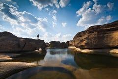 3000 dziur sampanbok Thailand Zdjęcia Stock