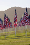 3000 Flags at Malibu Stock Image