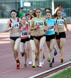 On the 3000 meters race Stock Images