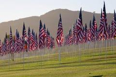 3000 vlaggen die zich nog bevinden Stock Afbeeldingen