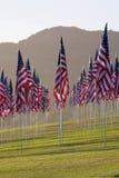 3000 vlaggen in Malibu Stock Afbeelding