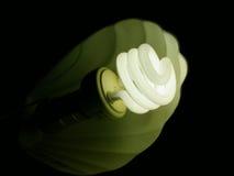 电灯泡卷曲光 库存图片
