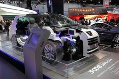 3008 diesel- bland hybrid4 nya peugeot Arkivbild