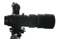 300mm lens on mount Stock Images