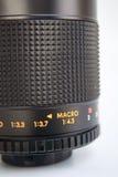 300mm Spiegelobjektiv - Makro Stockbild