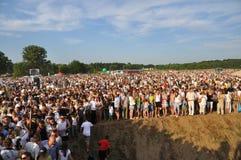 300th anniversario della battaglia di Poltava Fotografie Stock Libere da Diritti
