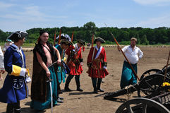 300th anniversario della battaglia di Poltava Fotografia Stock Libera da Diritti