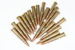 .303 Brithish ammo. Lot of ammunition caliber .303 British , isolated royalty free stock photography