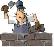 砌砖工 库存例证