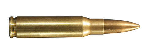.308 winchester round. Round of .308 winchester, also known as 7.62mm X 51 NATO stock images