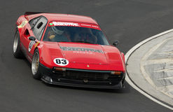 308gtb汽车ferrari赛跑的速度 库存照片