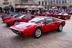 308gts dzień Ferrari przedstawienie Zdjęcia Royalty Free