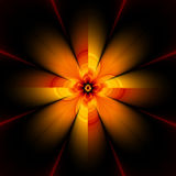 30h kwiat fractal royalty ilustracja
