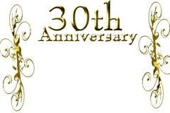 30th årsdag Royaltyfri Foto