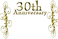 30th anniversary. On a solid white background Royalty Free Stock Photo