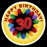 30th lyckliga födelsedag stock illustrationer