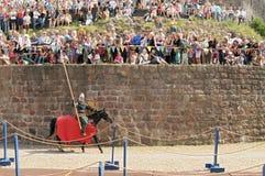 31匹马7月骑士俄国viborg 库存图片