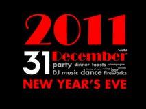 31 2011 nytt s år för december helgdagsafton Royaltyfria Bilder
