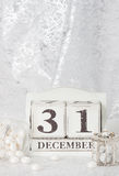 Дата Нового Года на календаре 31-ое декабря Рождество Стоковая Фотография RF