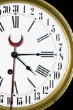 31 Day Clock. An old 120 year old antique 31 day clock Stock Photo