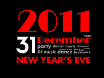31 december 2011 - new year's eve Royalty Free Stock Images