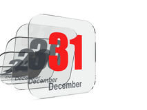 31 December - End of year Stock Image