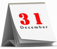31 December on toggle calendar. On white Stock Images