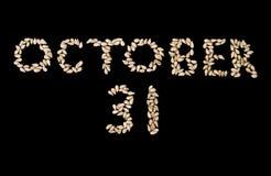 31 halloween oktober Arkivbilder